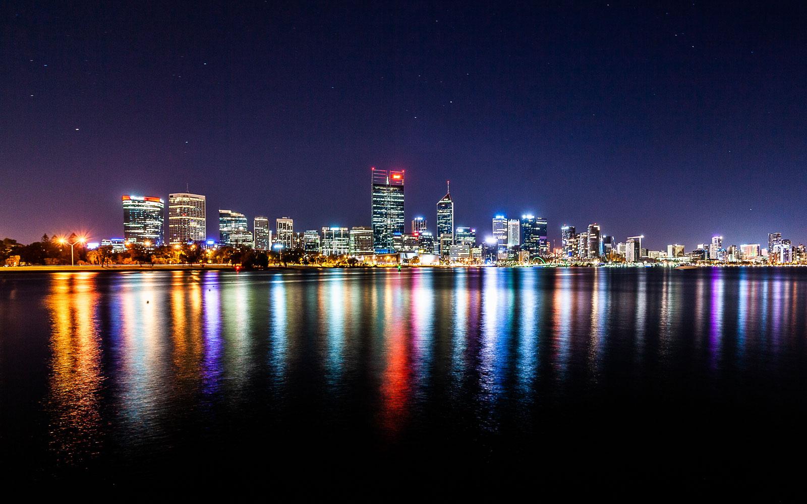 Perth CBD by night